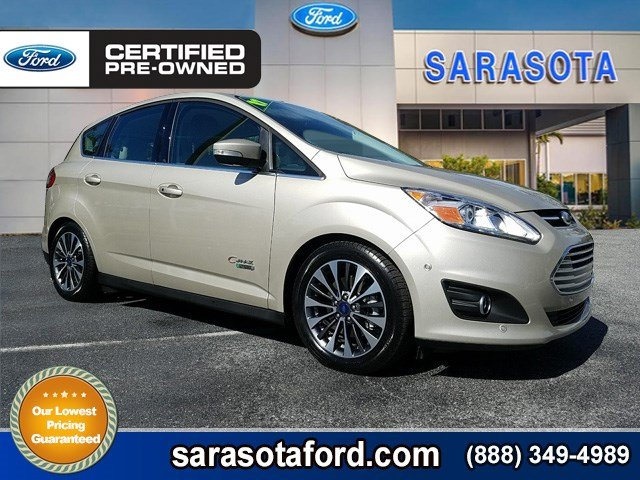 Certified Pre-Owned 2017 Ford C-Max Energi *TITANIUM*NAVIGATION*SELF PARKING*BLIND SPOT DETECTION*HANDS FREE LIFTGATE*