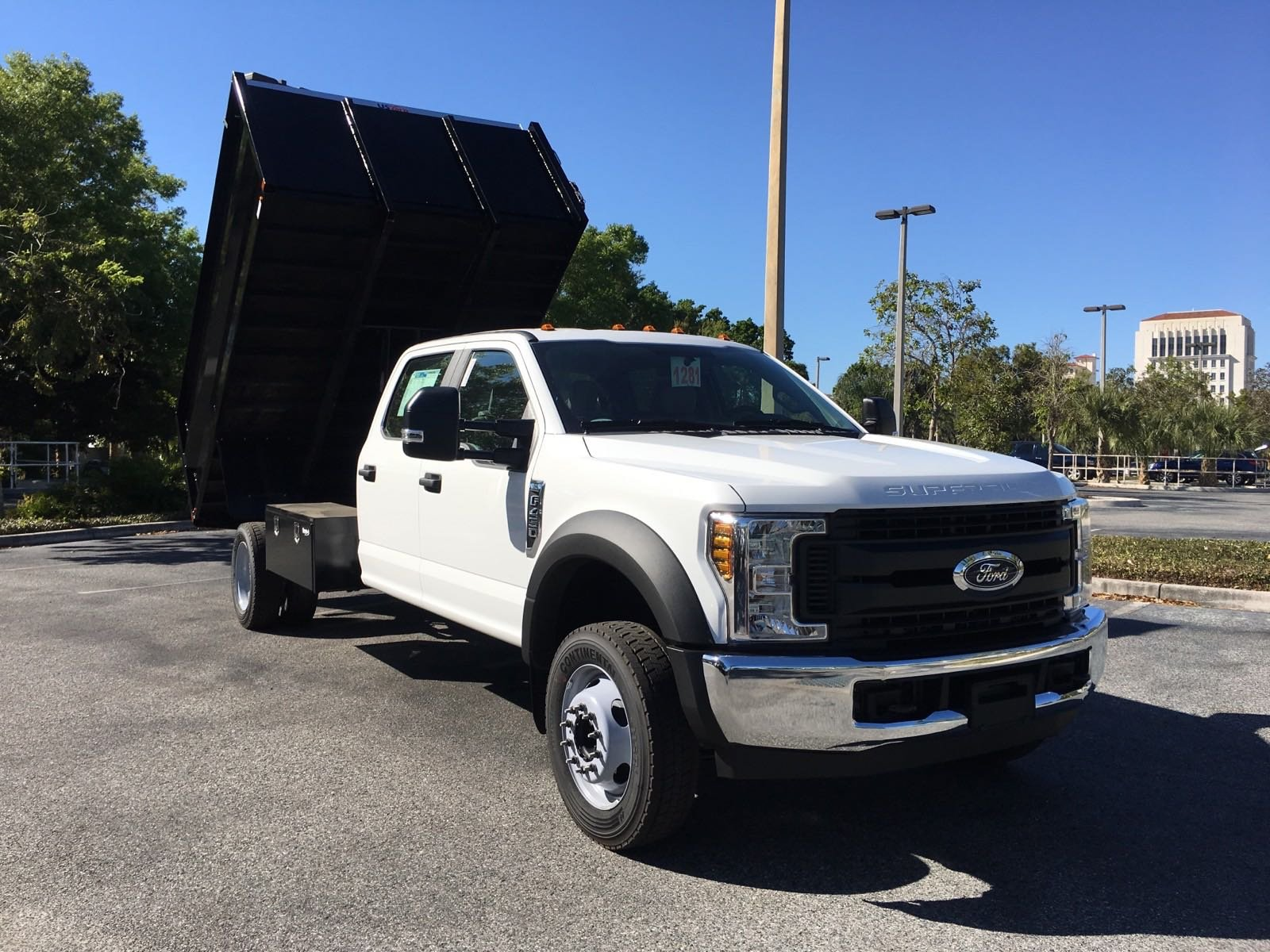 New 2018 Ford Super Duty F 450 DRW XL 12FT STEEL DUMPBODY Crew Cab