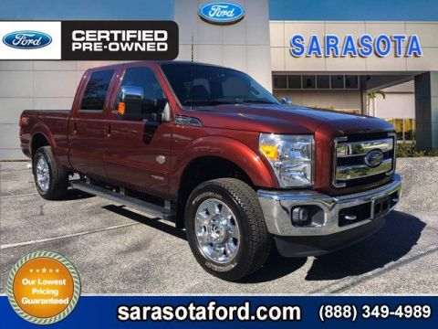 Certified Pre-Owned 2016 Ford Super Duty F-250 SRW *KING RANCH*4X4*DIESEL*COOLED&HEATED LEATHER*NAVIGATION* 4WD